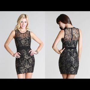 NikiBiki lace body con dress